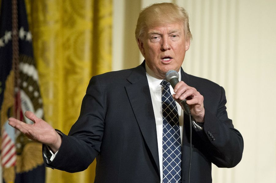 Donald Trump à la Maison Blanche, le 28 mars 2017.
