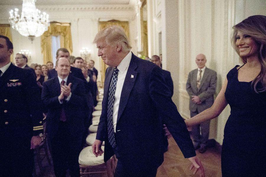 Donald Trump et Melania Trump à la Maison Blanche, le 28 mars 2017.