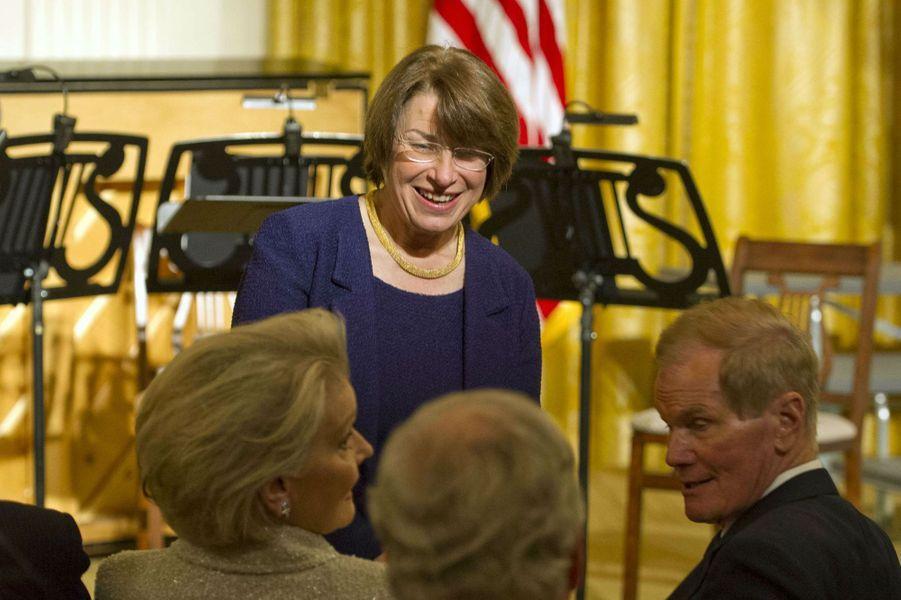 La sénatriceAmy Klobuchar à la Maison Blanche, le 28 mars 2017.