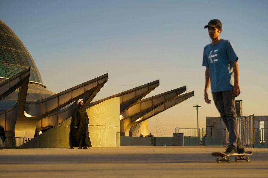 Au skatepark Abo-o-Atash, ouvert en 2009 dans un quartier huppé de Téhéran.