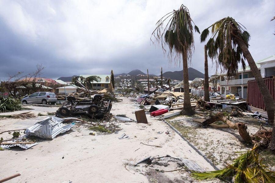Les dégâts causés par Irma à Saint-Martin.