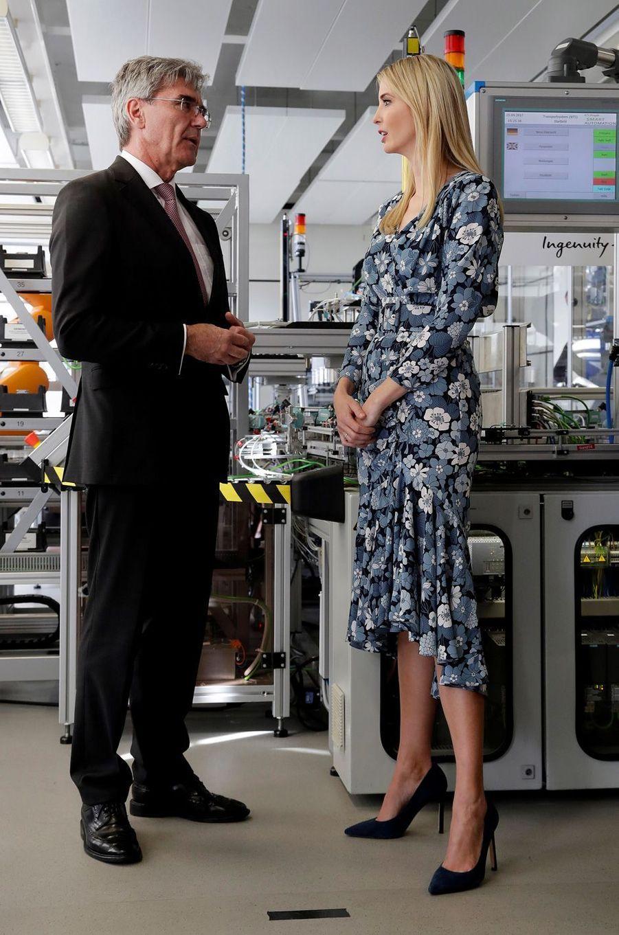 Ivanka Trump dans les locaux de Siemens à Berlin, le 25 avril 2017.