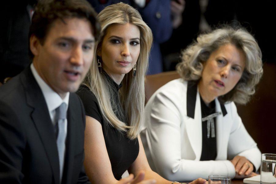 Justin Trudeau et Ivanka Trump lundi à la Maison Blanche.