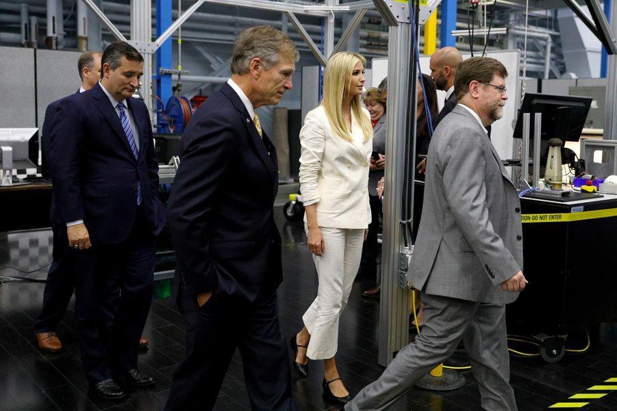 Ted Cruz etIvanka Trump à Houston, au Texas, le 20 septembre 2018.
