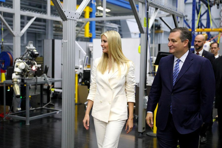 Ivanka Trump et Ted Cruz à Houston, au Texas, le 20 septembre 2018.