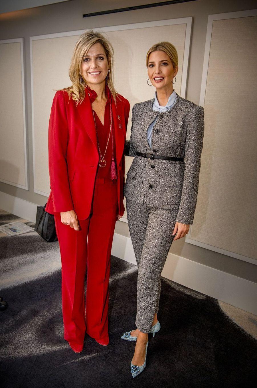 La reine Maxima des Pays-Bas et Ivanka Trump à New York, le 20 septembre 2017.