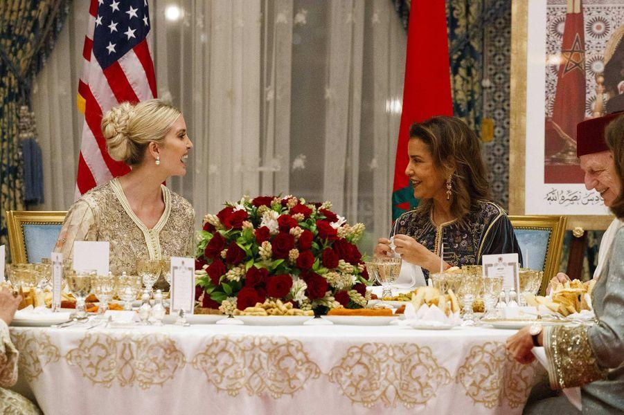 Ivanka Trump et Lalla Meryem au Palais royal à Rabat, au Maroc, le 7 novembre 2019.