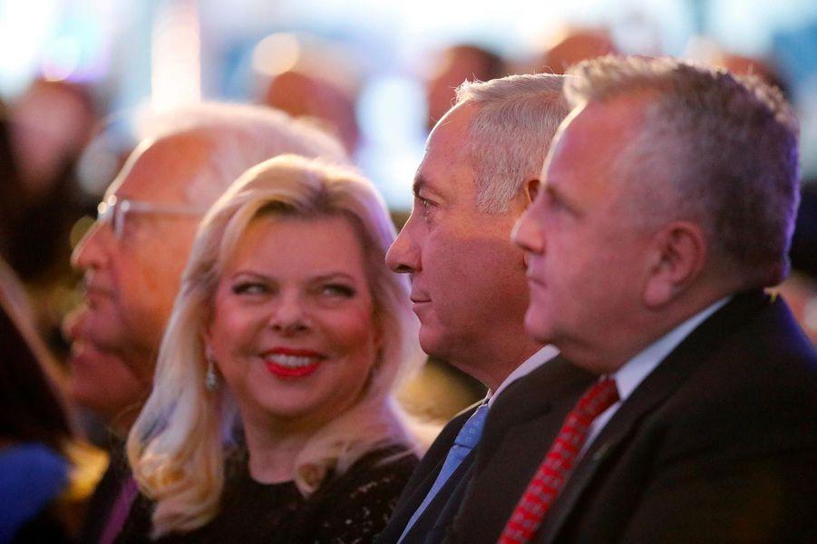 Sara et Benjamin Netanyahou à Jérusalem, le 13 mai 2018.