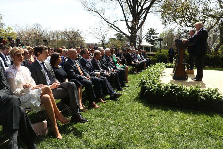 Ivanka Trump et Jared Kushner à la Maison Blanche, le 5 avril 2017.