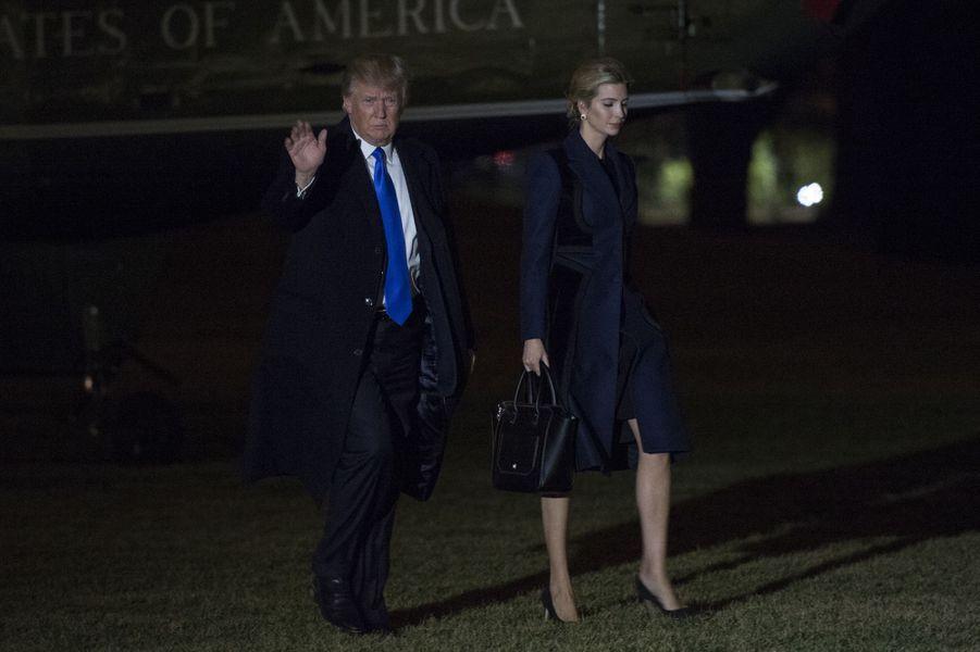 Ivanka Trump et Donald Trump à leur retour à la Maison Blanche, le 1er février 2017.