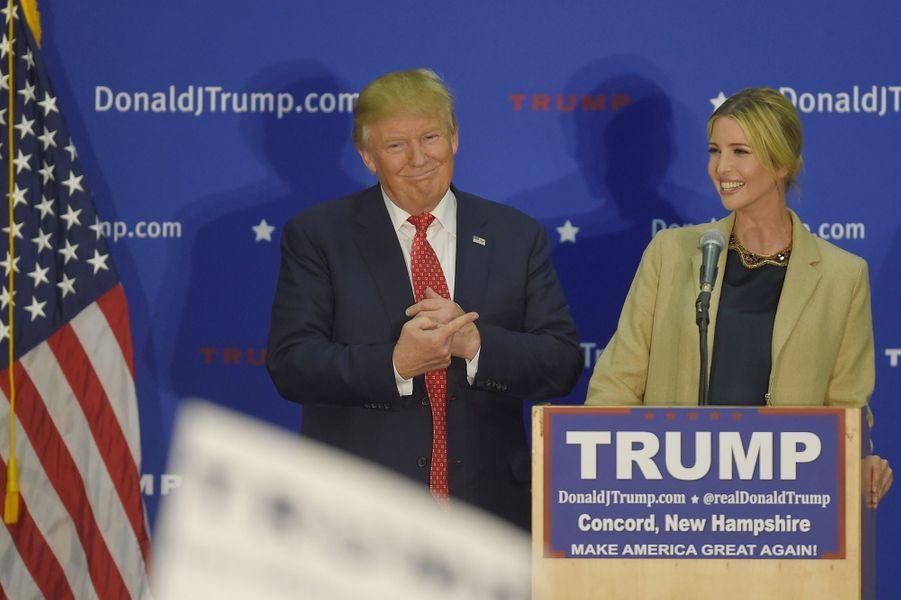 Donald Trump etIvanka Trump, en janvier 2016.