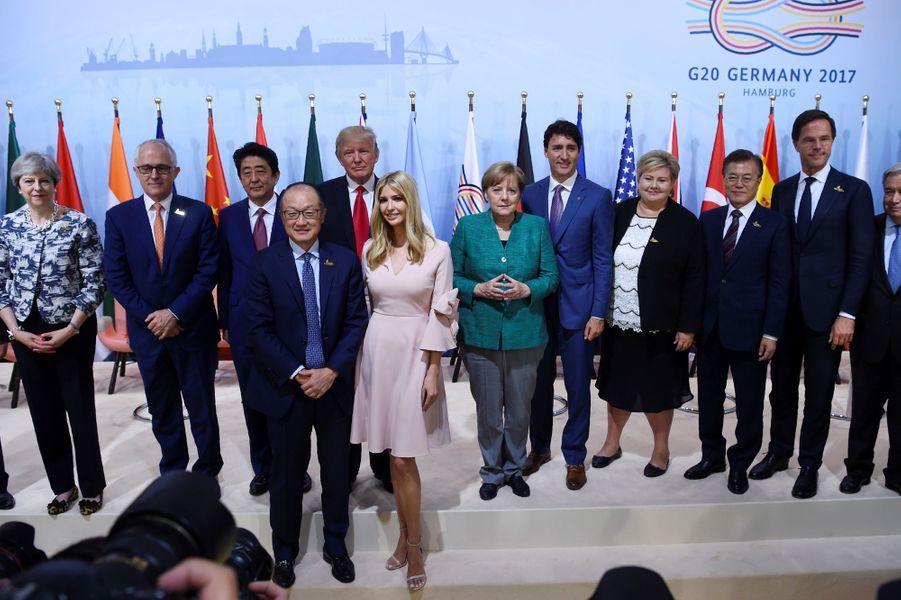 Ivanka Trump parmi les dirigeants au sommet du G20 à Hambourg, en juillet 2017.