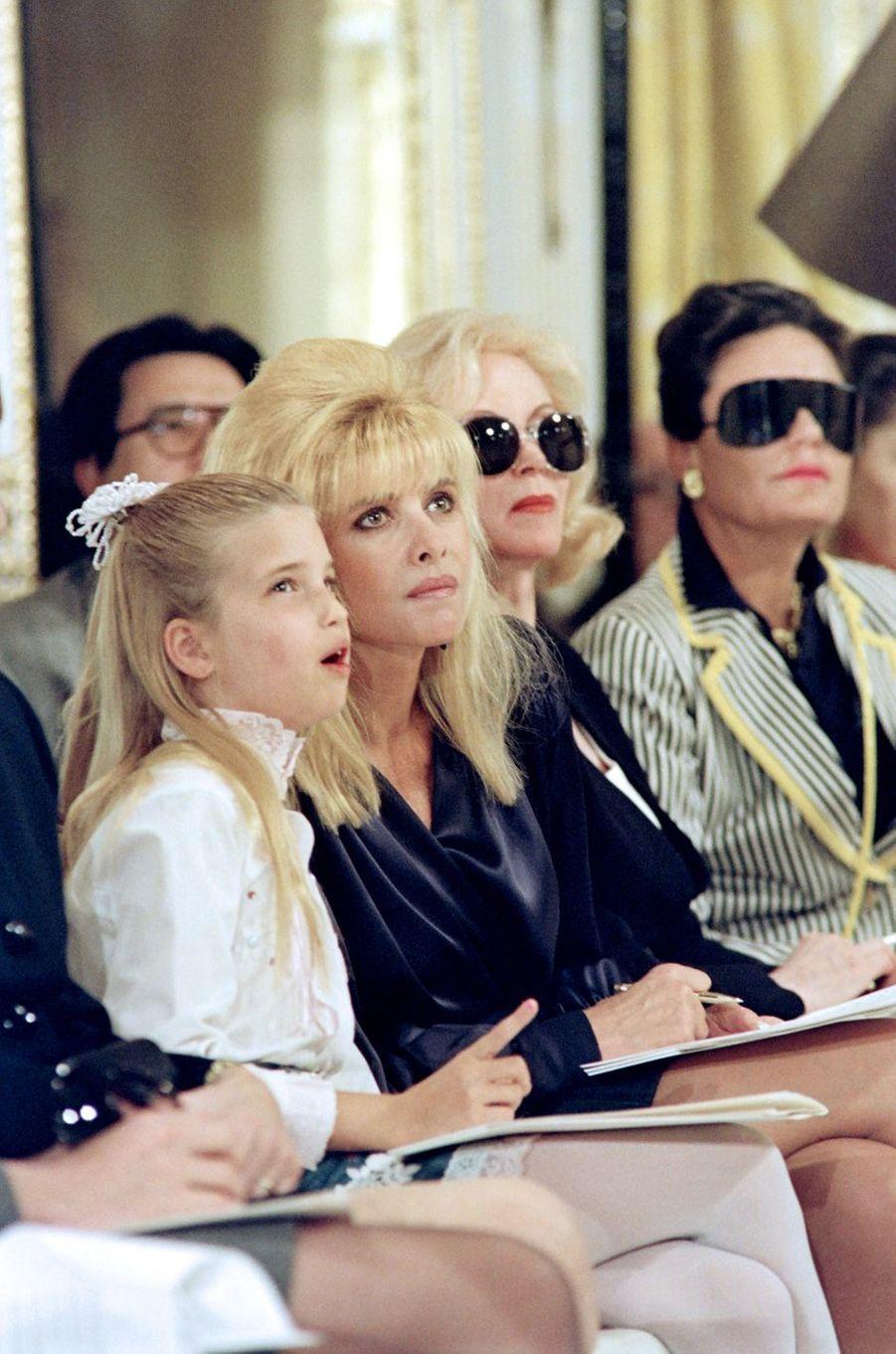Ivana Trump et sa fille Ivanka, en avril 1991.
