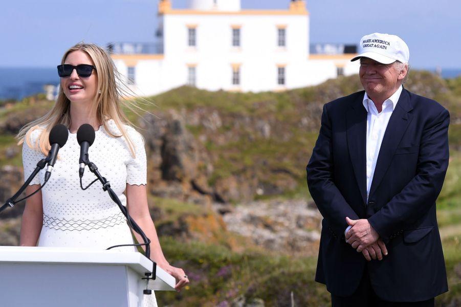 Ivanka Trump et Donald Trump, en juin 2016.