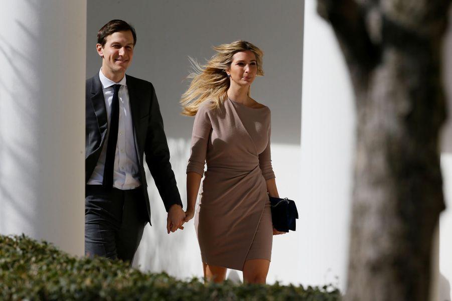 Jared Kushner etIvanka Trump à la Maison Blanche, en février 2017.