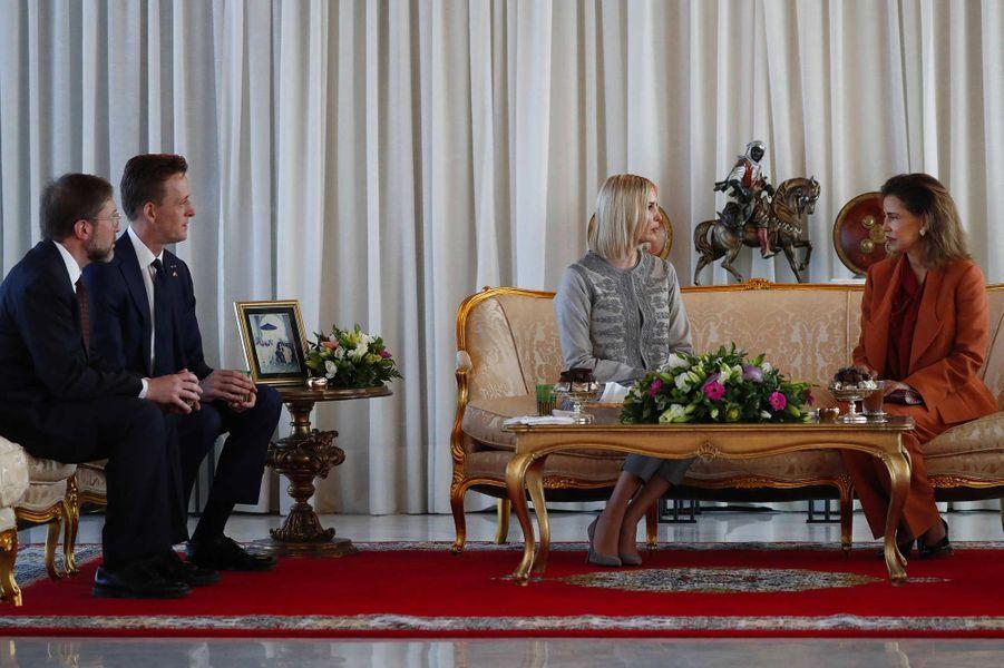 Ivanka Trump reçue par Lalla Meryem du Maroc à Rabat, le 6 novembre 2019.