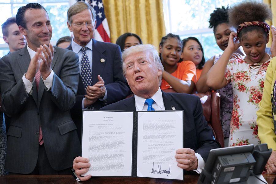Donald Trump à la Maison Blanche, le 25 septembre 2017.