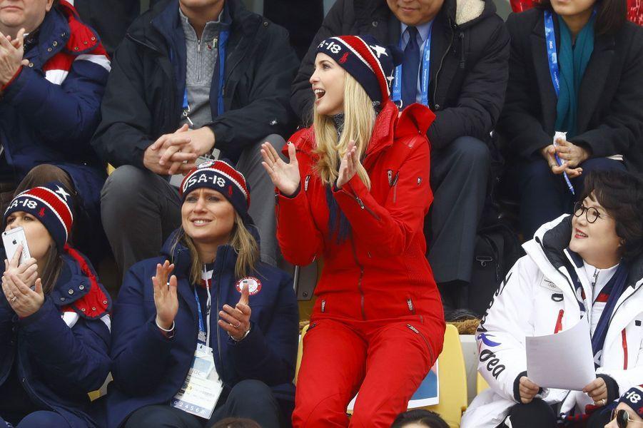 Ivanka Trump dans les gradins àPyeongchang