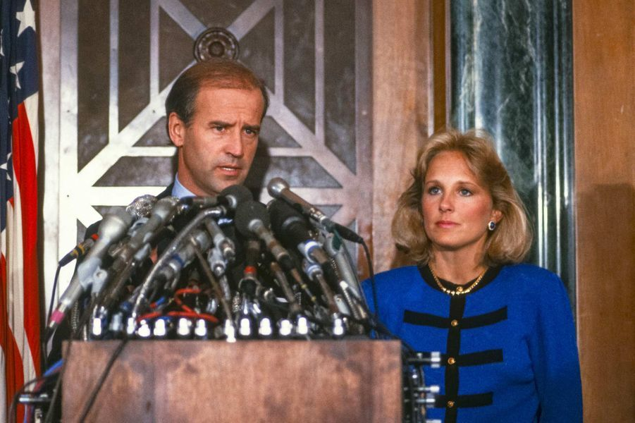 Joe et Jill Biden, en 1988.