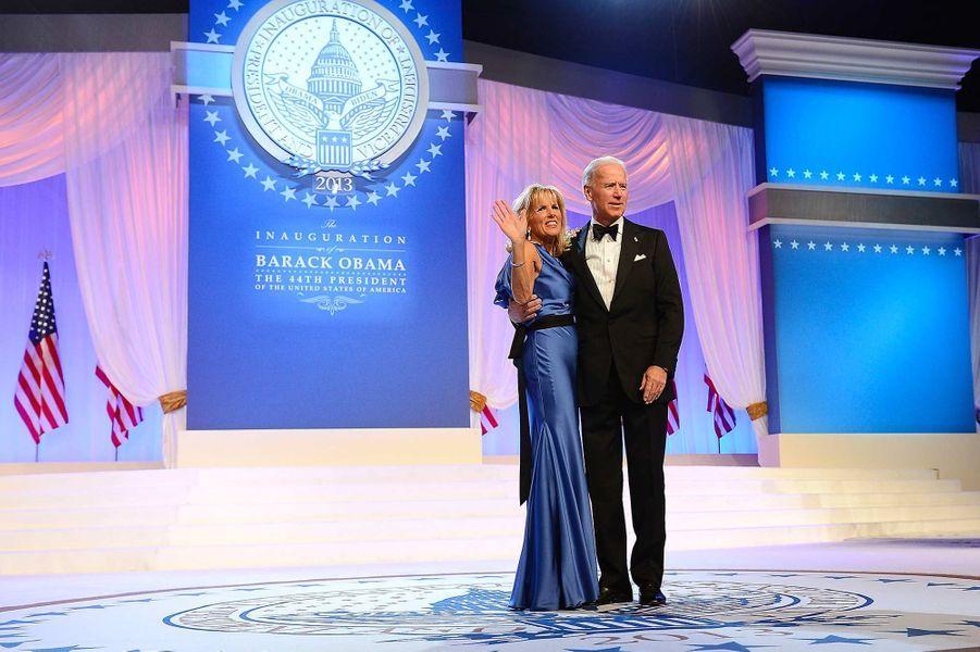 Joe et Jill Biden lors du bal de l'investiture, en janvier 2013.