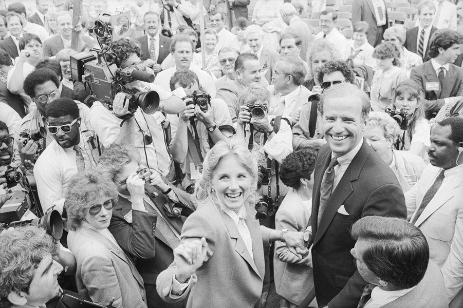 Jill et Joe Biden, en 1987.