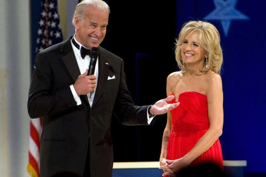 Joe et Jill Biden lors du bal de l'investiture, en janvier 2009.