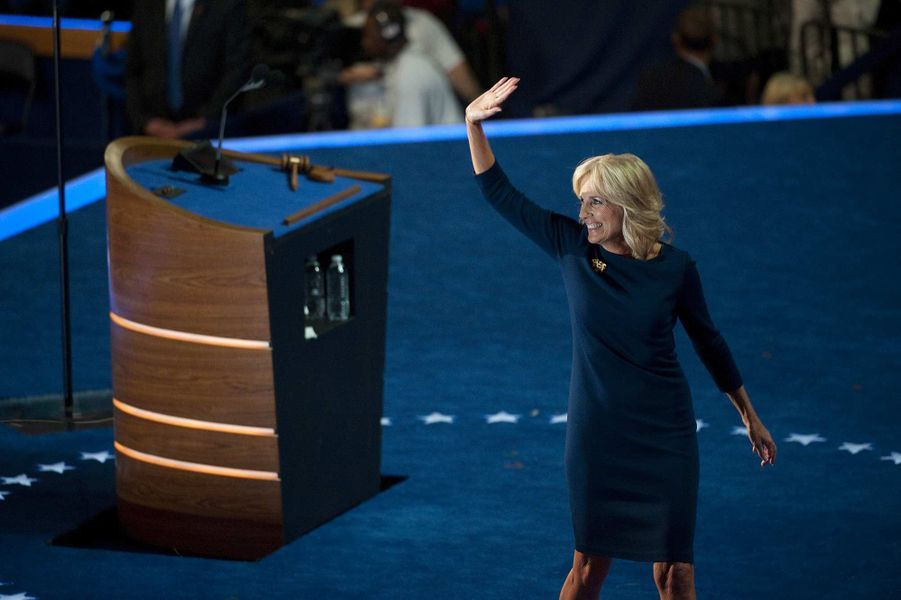 Jill Biden lors de la convention démocrate, en septembre 2012.