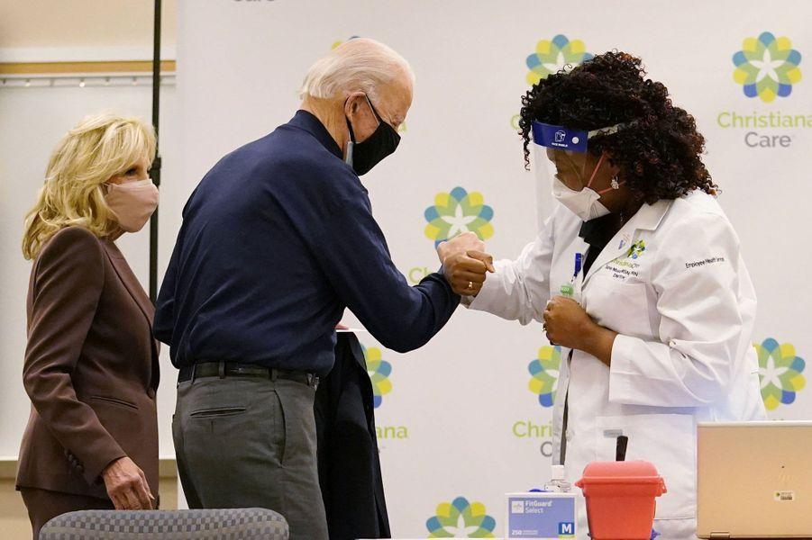 Joe Biden a été vacciné contre le coronavirus auChristianaCare Christiana Hospital de Newark, dans le Delaware, le 21 décembre 2020.