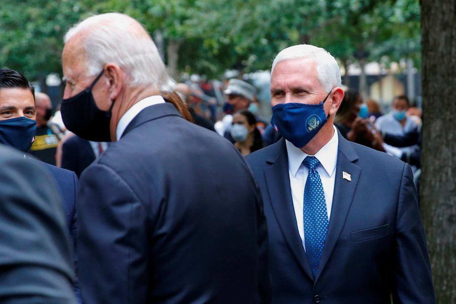 Joe Biden et Mike Penceontassisté à une cérémonie de commémoration à New York, 19 ans après les attentats du 11-Septembre.
