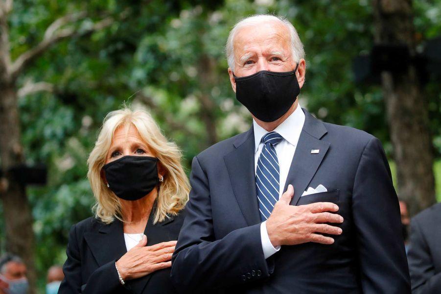 Jill Biden et Joe Bidenontassisté à une cérémonie de commémoration à New York, 19 ans après les attentats du 11-Septembre.