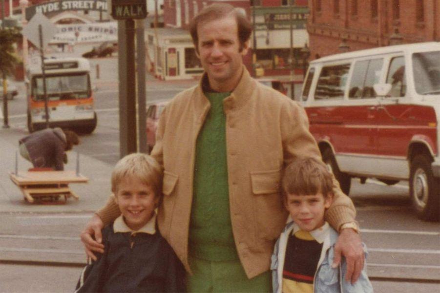 Joe Biden avec ses fils Beau et Hunter.