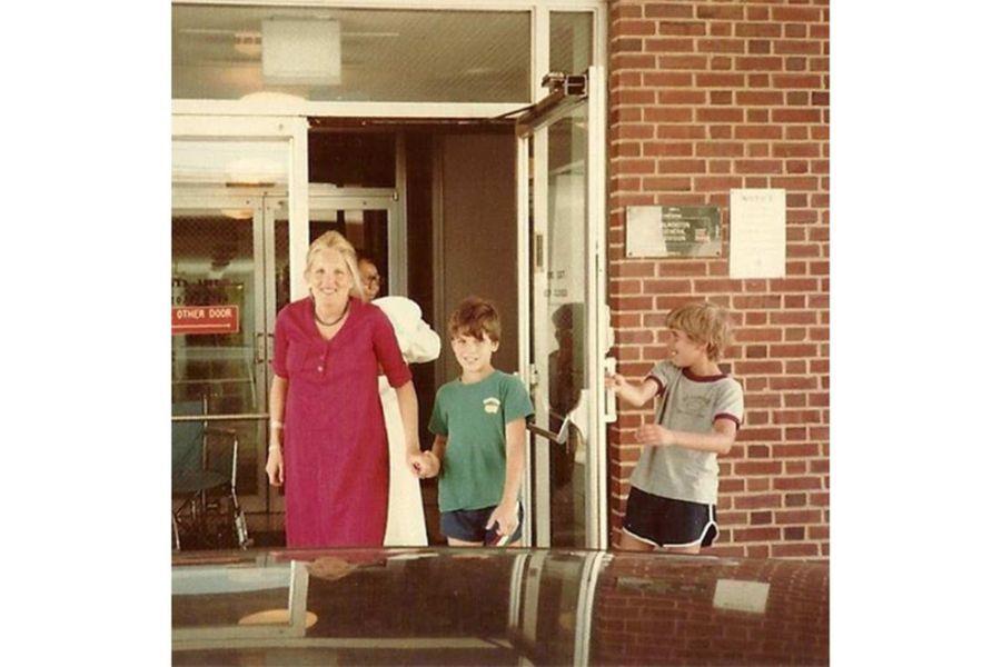 Jill Biden, avec Beau et Hunter.