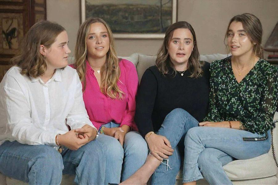 Naomi, Finnegan, Maisy et Natalie Biden, les petites-filles de Joe Biden, en août 2020.