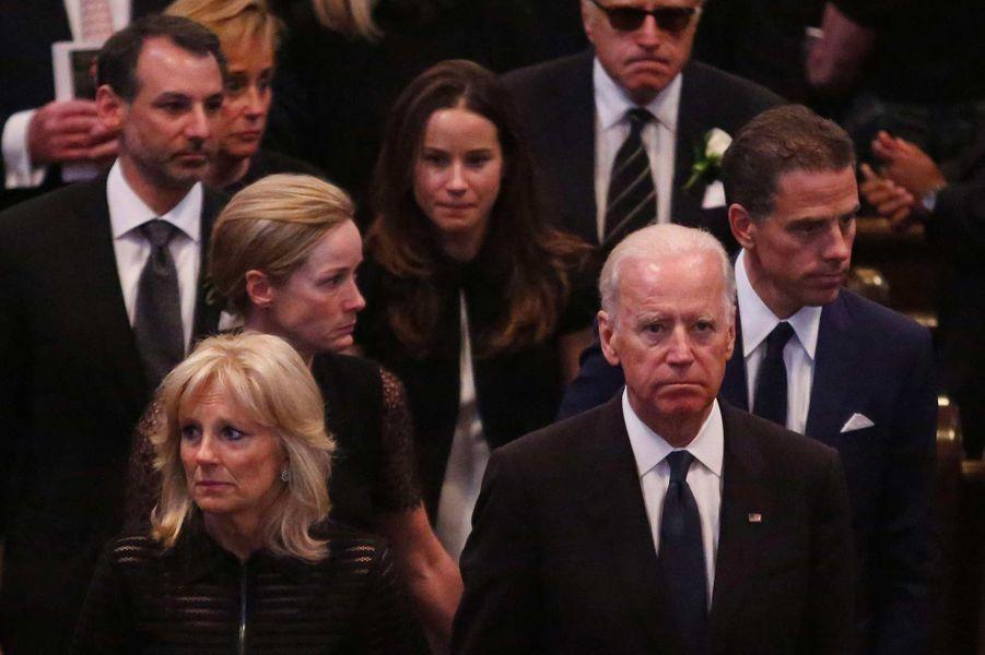 La famille Biden le jour de l'enterrement de Beau, en juin 2015.