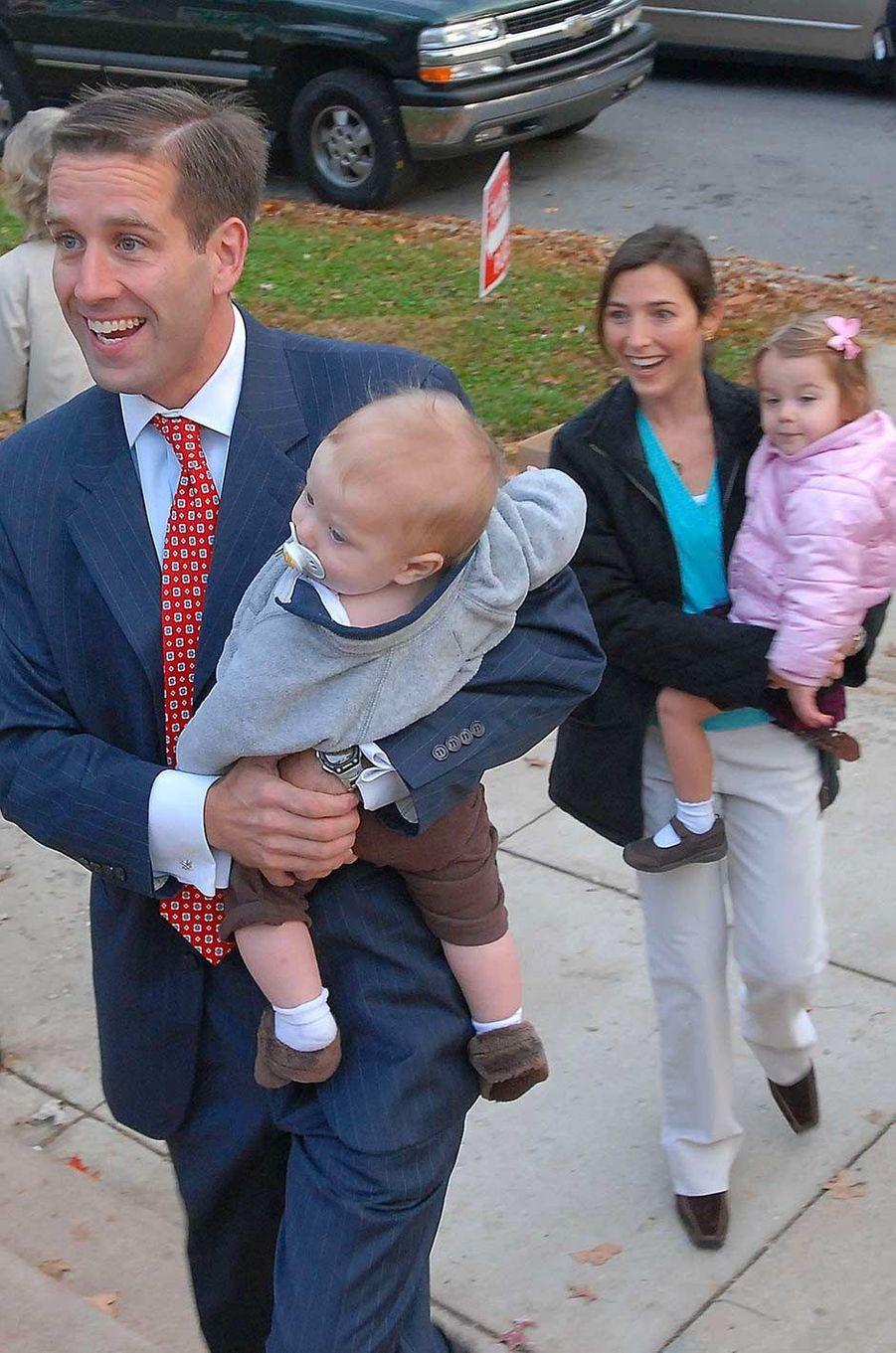 Beau Biden avec sa femme Hallie et leurs enfants, en novembre 2006.