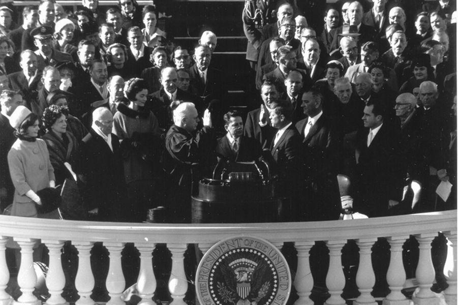 Investiture de John F. Kennedy, le 20 janvier 1961.
