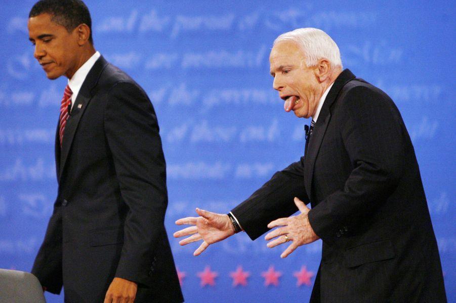 Barack Obama et John McCain en octobre 2008
