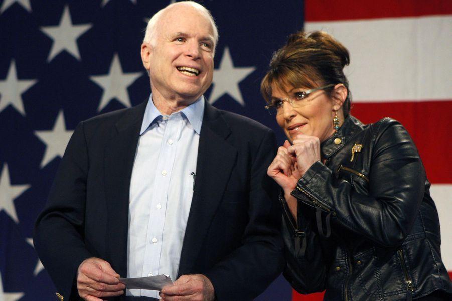John McCain et Sarah Palin en mars 2010