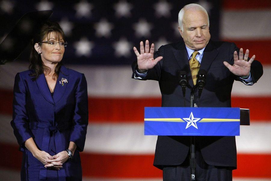 Sarah Palin et John McCain en novembre 2008