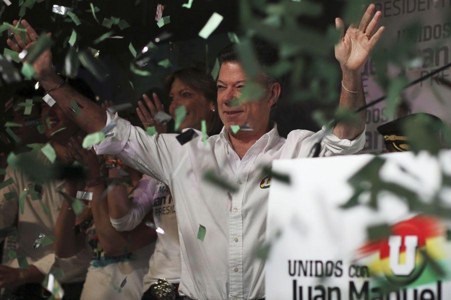 Juan Manuel Santos lors de sa campagne pour devenir président, en mai 2010.