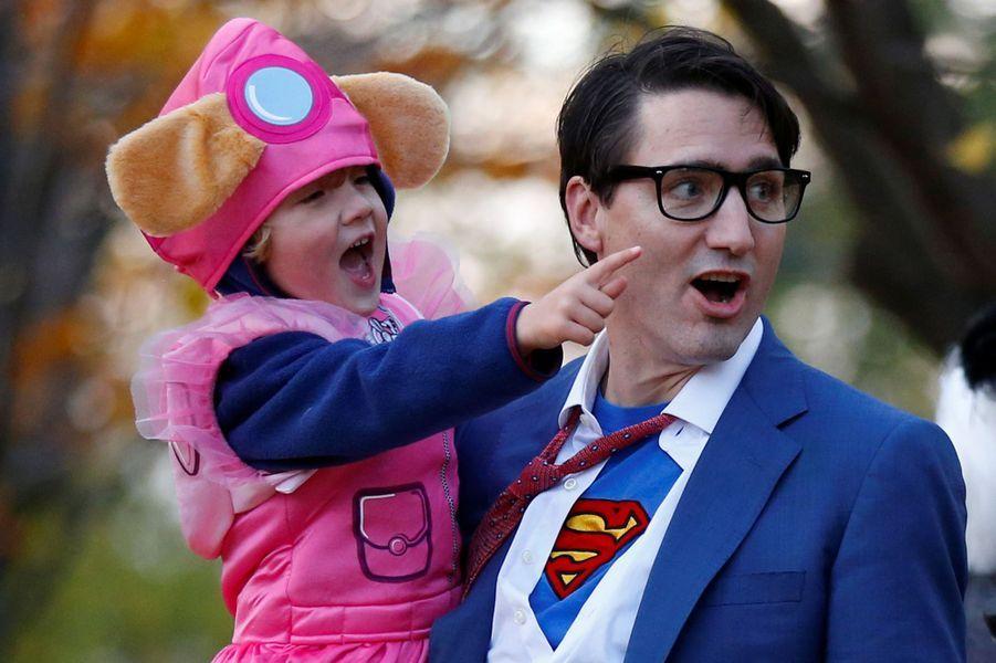 Justin Trudeau et sa famille pour Halloween, le 31 octobre 2017.