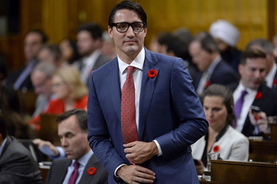 Justin Trudeau au Parlement, le 31 octobre 2017.