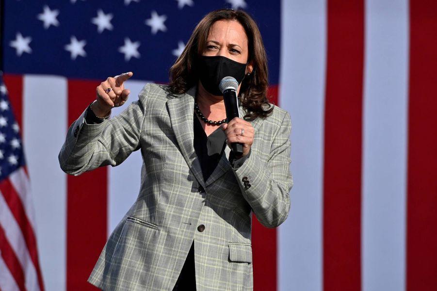 Kamala Harris lors d'un discours à Las Vegas, le 2 octobre 2020.