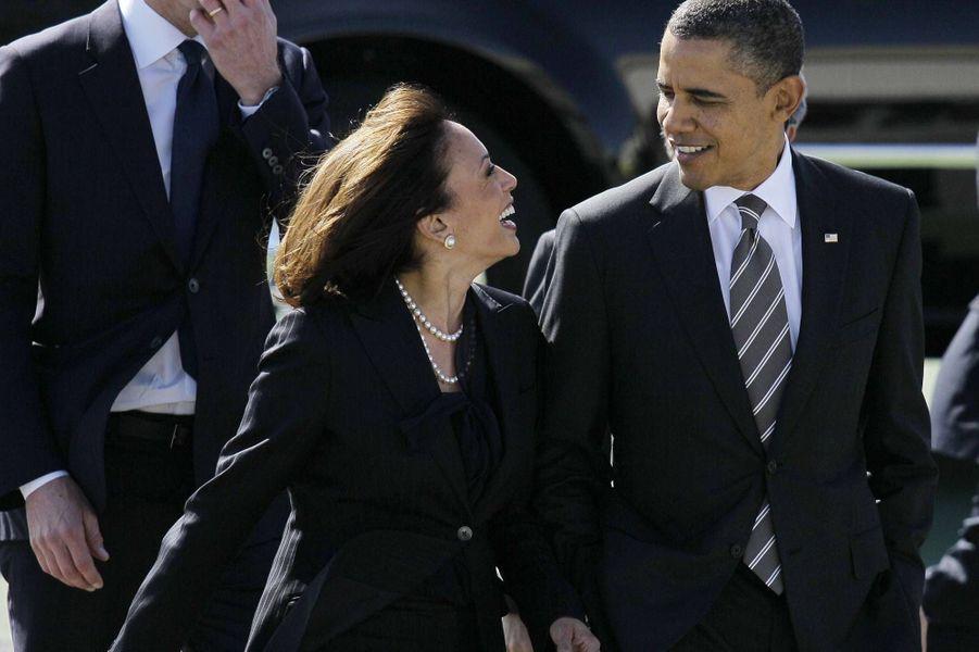 Kamala Harris et Barack Obama, en février 2012.