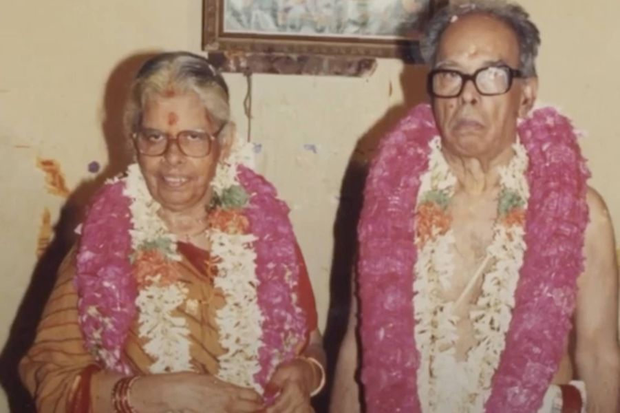 Les grands-parents maternels de Kamala Harris, Rajam et P.V. Gopalan.