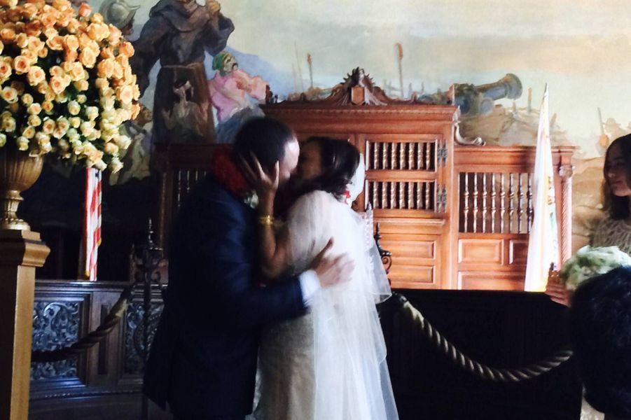 Douglas Emhoff et Kamala Harris le jour de leur mariage, en août 2014.