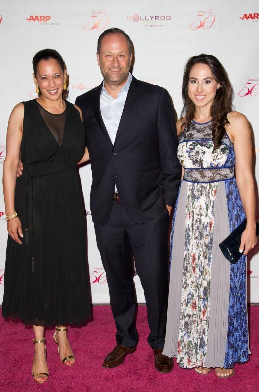Kamala Harris, Douglas Emhoff et Meena Harris, en septembre 2014.