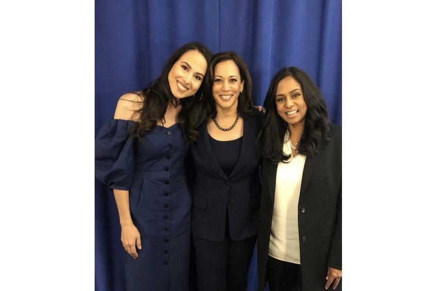 Kamala Harris avec sa nièce Meena et sa soeur Maya.