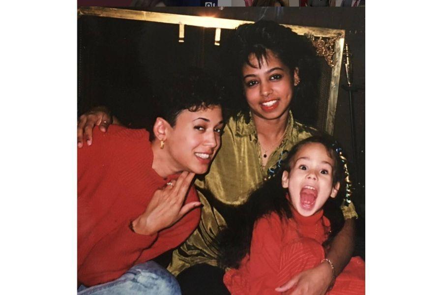 Kamala Harris avec sa soeur Maya et sa nièce Meena.