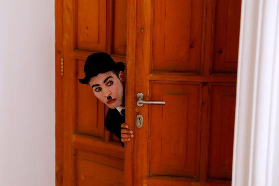 Karim Asir, le Charlie Chaplin de l'Afghanistan.